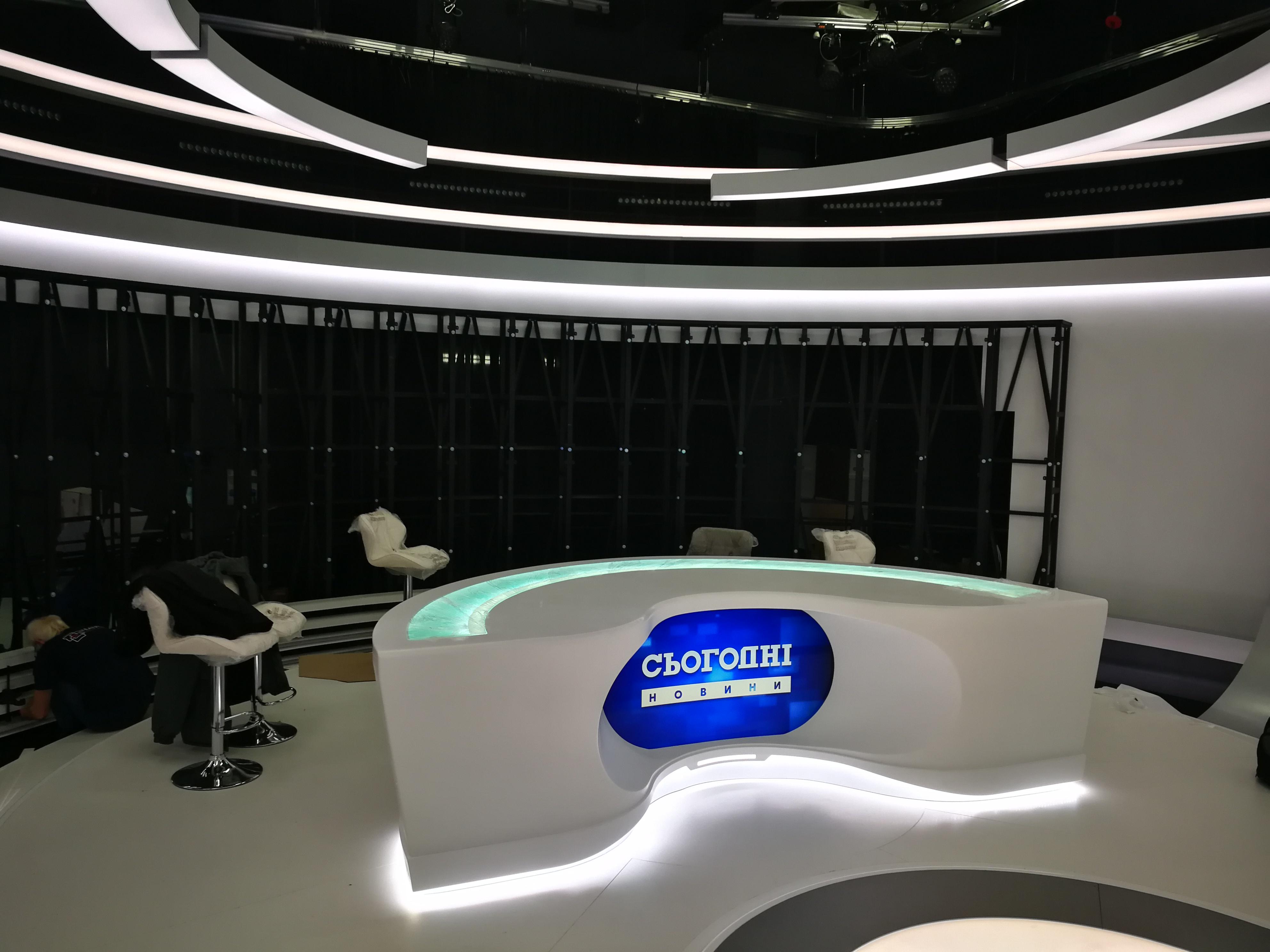 Оформление студии новостей ТРК «Украина» ⠀